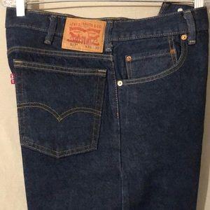 Levi's 517 Dark Indigo Denim Bootcut Jeans 36x30